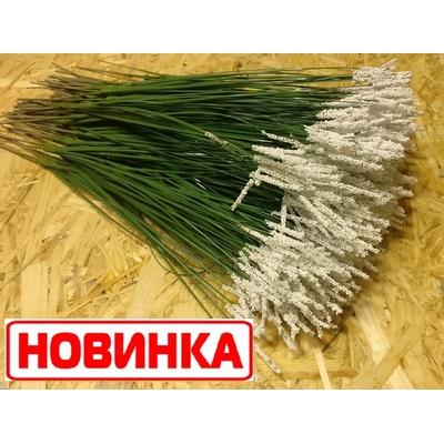 НОВИНКА!!! XZ-2 Осока на стебле с напылением. 8 листьев, 30,5 см.(без учета стебля). 100 шт./уп.